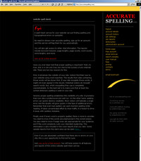 WEB SITE SPELL CHECK SERVICE