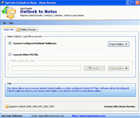 Outlook to Notes Software screenshot medium