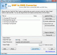 DWF to DWG Converter 2010 screenshot medium