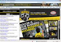 Columbus Crew MLS Firefox Theme