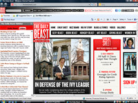 The Daily Beast Internet Explorer Theme