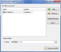 Free AVI to MP4 Converter screenshot medium