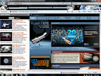 NASA Space Internet Explorer Theme
