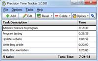 Precision Time Tracker screenshot medium