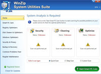 WinZip System Utilities Suite screenshot medium