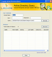 Free Lepide Active Directory Query