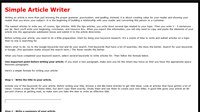 Simple Article Writer