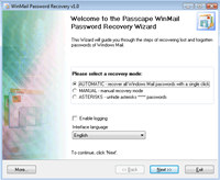 Windows Mail Password Recovery