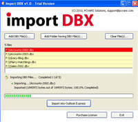 Add DBX file to Outlook Express