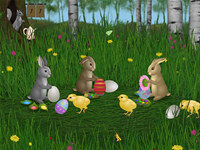 Easter Bunnies Screensaver
