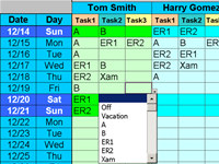 Employee Task Scheduling for One Year