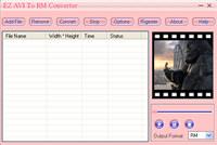 EZ AVI To RM Converter screenshot medium