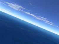 Flight over sea