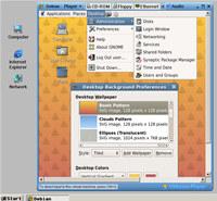 Linux in a window of Windows