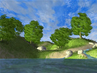 Beautiful Forest Lake 3D Screen Saver