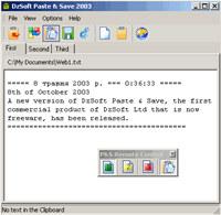 DzSoft Paste & Save screenshot medium