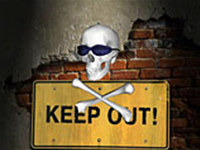 Keep Out Screen Saver screenshot medium