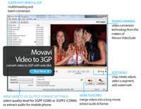 Movavi 3GP Video Converter screenshot medium