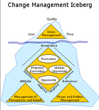 Change Management Iceberg Software Tool screenshot medium