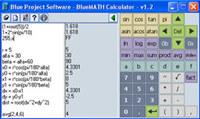 Blue MATH Calculator screenshot medium