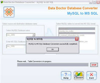 Freeware MySQL to MSSQL Converter screenshot medium