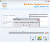 MySql to MSSql Database Migrator screenshot medium