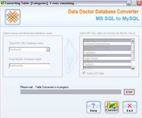 MSSQL DB Converter Software screenshot medium
