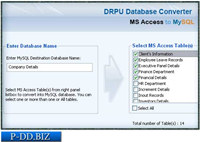 MS Access to MySQL Db Converter