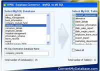 Convert MySQL Database To MSSQL screenshot medium