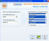 Convert MySQL to MSSQL Database screenshot medium