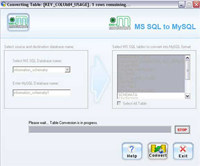 MSSQL to MySQL Converter screenshot medium