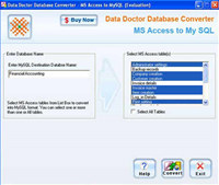 MSAccess to MySQL DB Conversion Utility