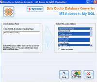 MSAccess to MySQL DB Conversion Utility