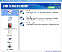 Cute CD DVD BD Burner Ultimate