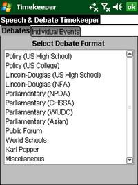 Speech and Debate Timekeeper