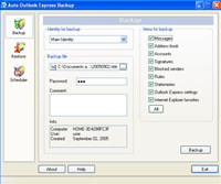 Auto Outlook Express Backup