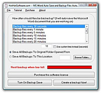 MS Word Auto Save and Backup Files Automatically