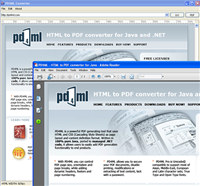 PD4ML. HTML to PDF converter for Java screenshot medium