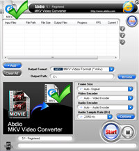 Abdio MKV Video Converter