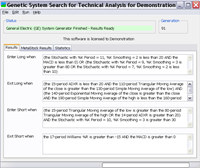Genetic System Search for Tech. Analysis