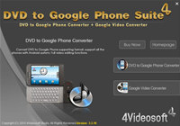 4Videosoft DVD to Google Phone Suite screenshot medium