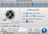 Bigasoft Total Video Converter for Mac screenshot medium