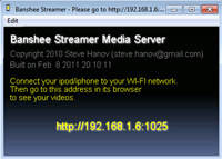 Banshee Streamer Media Server