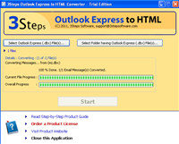 3Steps Outlook Express to HTML Converter
