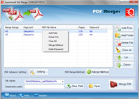 Axommsoft Pdf Merger screenshot medium