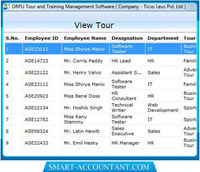 Employee Tour Management Software screenshot medium