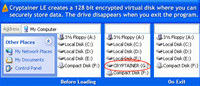 Cryptainer LE Free Encryption Software screenshot medium