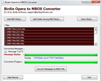 Opera to MBOX Converter screenshot medium