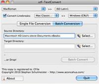 utf-Textconvert Mac screenshot medium