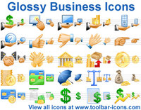 Glossy Business Icons